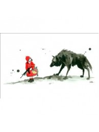 Lora Zombie - Little Red Riding Hood 17.25'' x 23.25''
